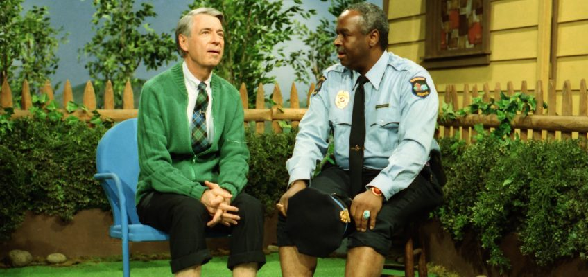 Fred Rogers and Officer Clemmons
